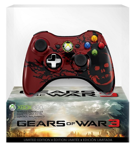 Mando inal&aacute;mbrico de Gears of War 3