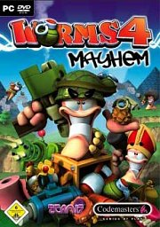 Car�tula oficial de Worms 4: Mayhem PC