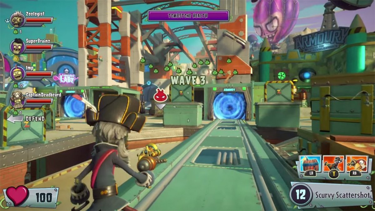 Plants Vs Zombies Garden Warfare 2 Gameplay E3 2015