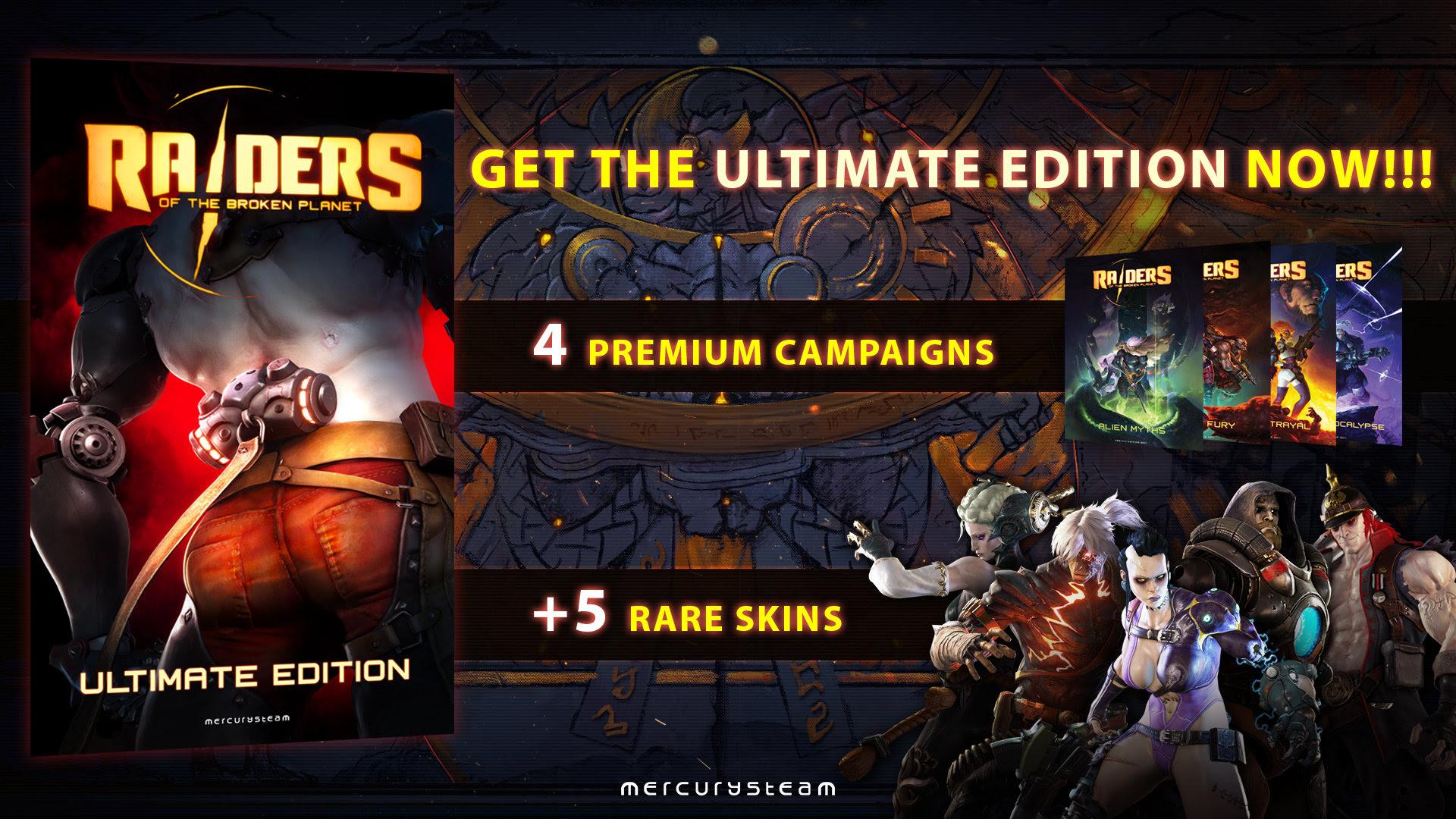 Ya disponible en PS4 la Ultimate Edition de Raiders of the Broken Planet