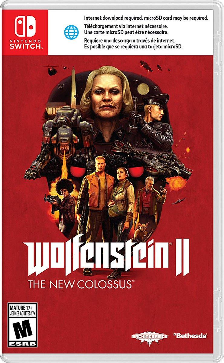 Switch requiere una descarga para jugar Wolfenstein 2 en cartucho
