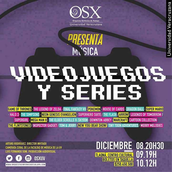 Orquesta Sinfónica de Xalapa dará concierto con música de videojuegos