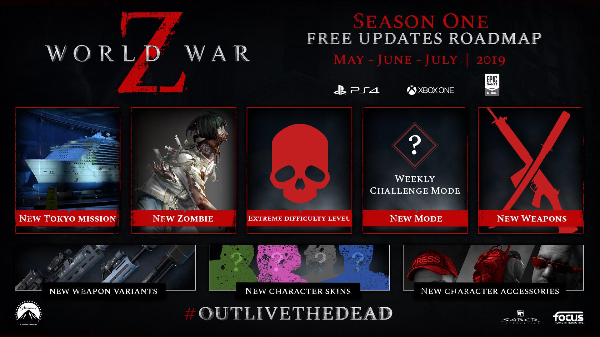 World War Z estrena gratis su primera gran actualización ¡La guerra continúa en Tokio!