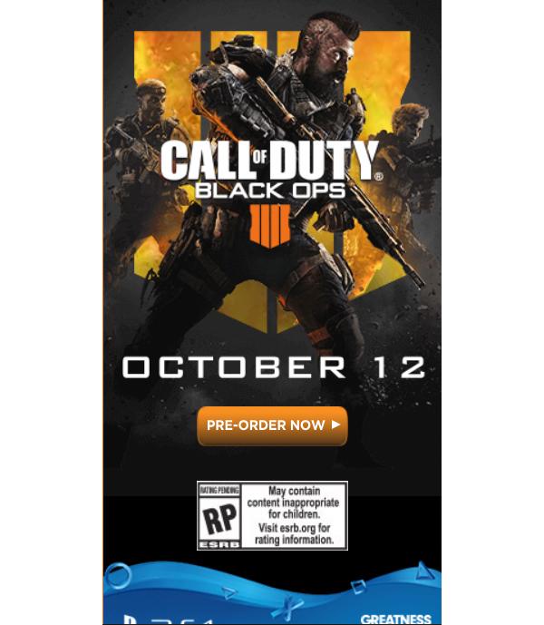 Filtrado el primer banner de Call of Duty: Black Ops 4