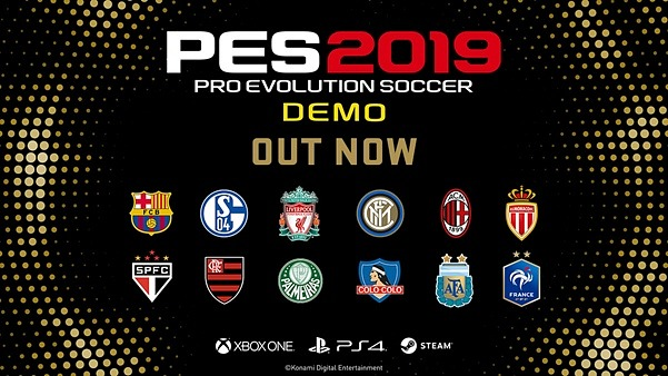 Pro Evolution Soccer 2019 lanzó demo