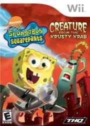 Carátula de Bob Esponja La Criatura del Krustáceo Krujiente - Wii