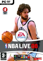 Carátula de NBA Live 08 - PC