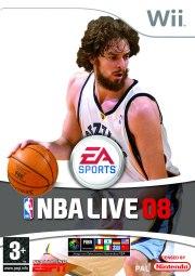 Carátula de NBA Live 08 - Wii