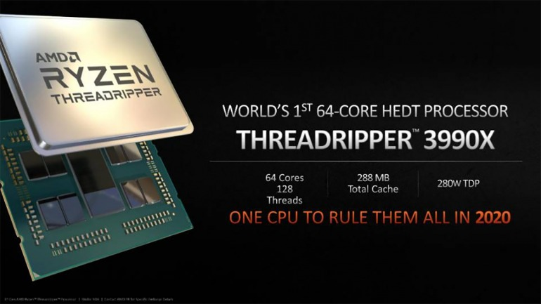 Ryzen Threadripper 3990X será el primer procesador HEDT de 64 núcleos en 2020