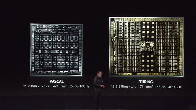 Los chips de las gráficas RTX tienen un enorme tamaño en comparación a otras iteraciones de Nvidia.