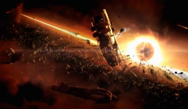 Captura de Mass Effect 2 (agujero negro próximo a la base de los Recolectores)