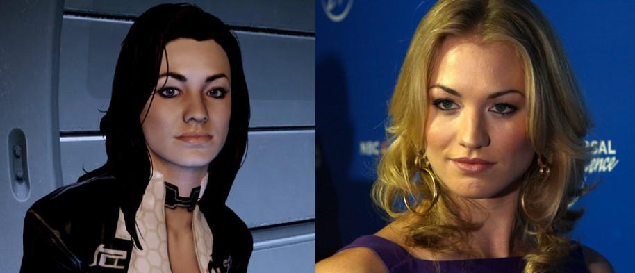 Miranda (Mass Effect 2) y Yvonne Strahovski.