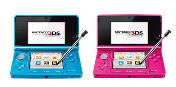 Nintendo 3DS - Cerulean Blue y Shimmer Pink