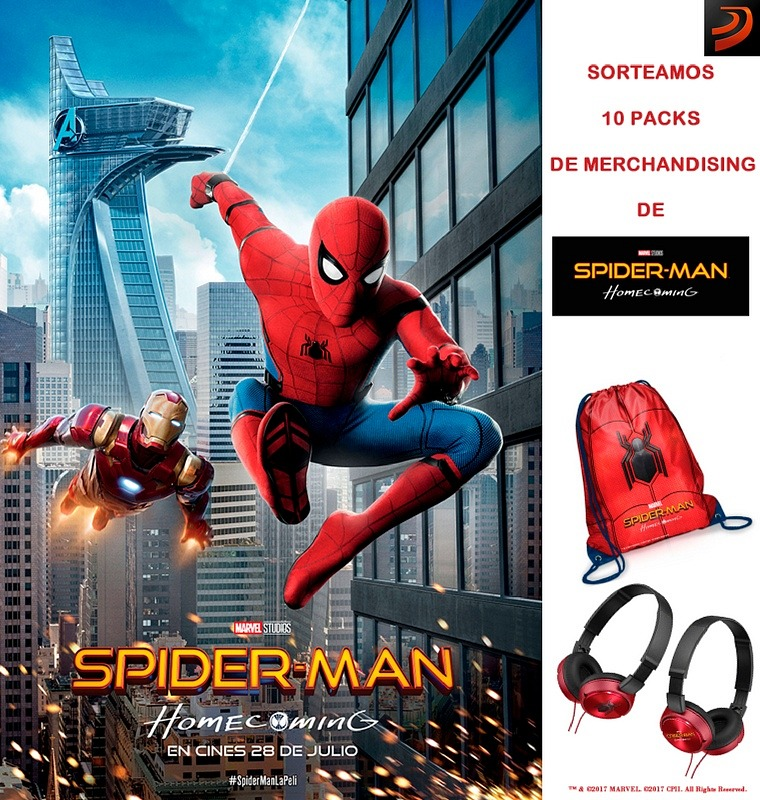 Gana un pack de premios de la película Spider-Man: Homecoming