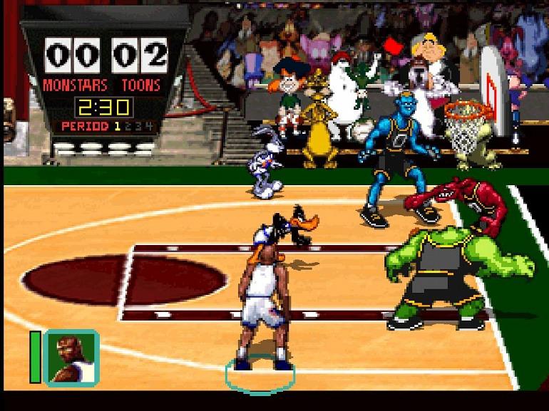 Imagen del Space Jam original publicado en PlayStation y Sega Saturn en el año 1996.