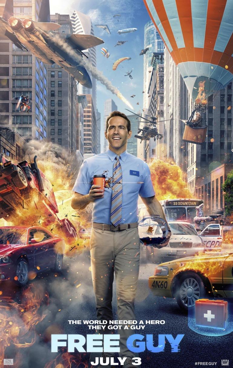 Ya hay tráiler de Free Guy, la película que convierte a Ryan Reynolds en un NPC de un juego tipo GTA