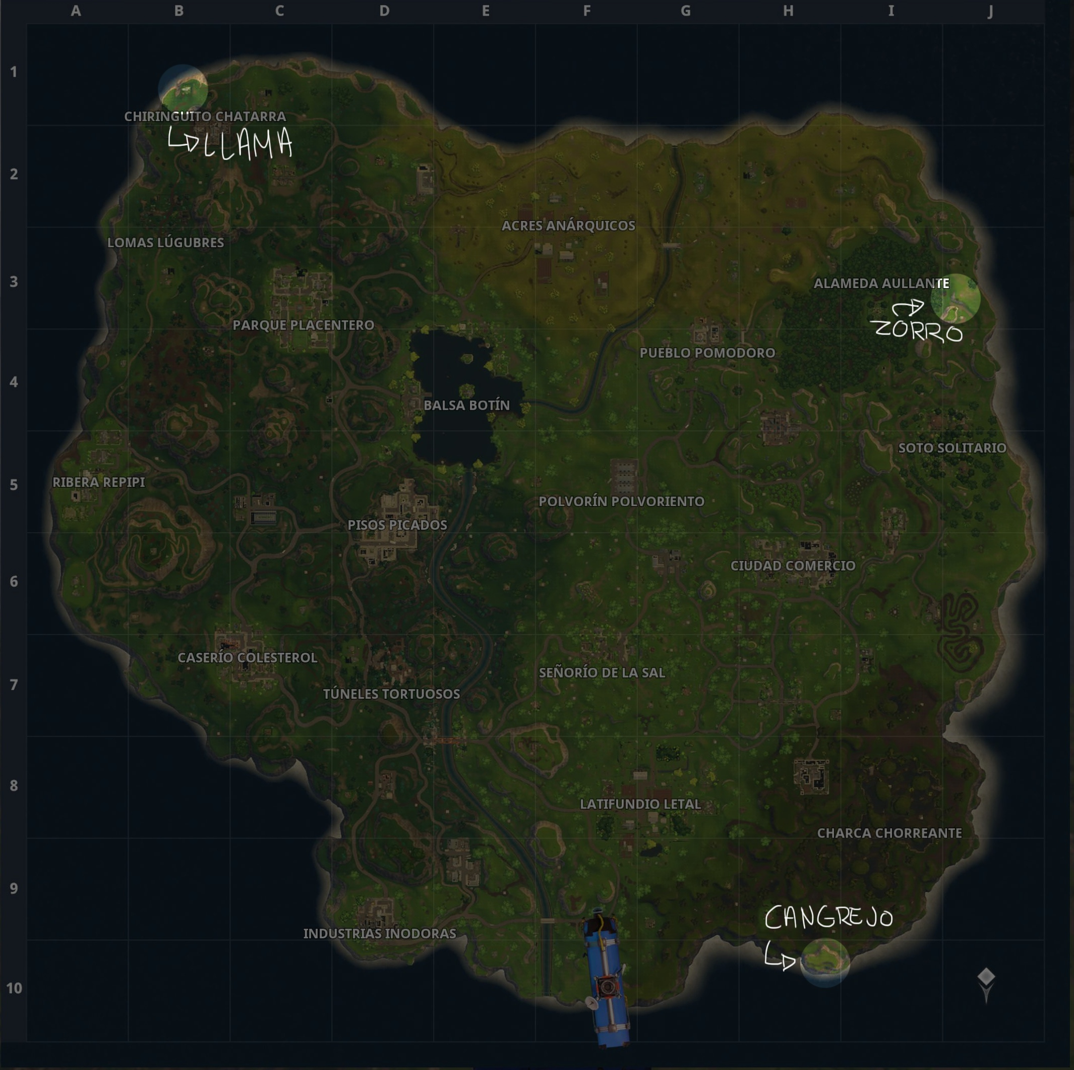 Mapa Fortnite Temporada 5 Español.Guia Del Primer Desafio Semanal De Fortnite Battle Royale