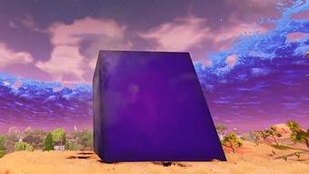 Un enorme cubo morado es el nuevo misterio de Fortnite