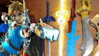 ¡Un fan de armas tomar! Atentos a este arsenal de réplicas de Zelda Breath of the Wild