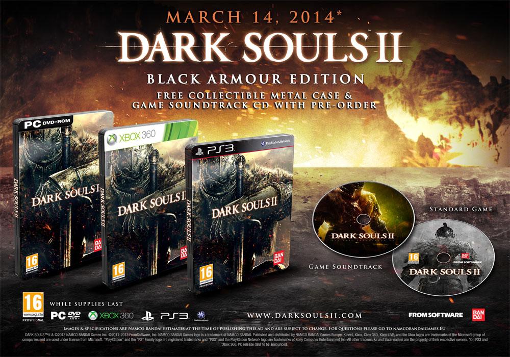 Dark Souls II concreta el lanzamiento de sus versiones de consolas en Europa el día 14 de marzo de 2014