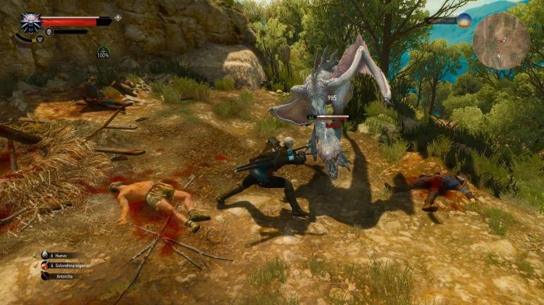 The Witcher 3 nos da la opción de escoger entre un sistema de dificultad prefijado, o uno dinámico.